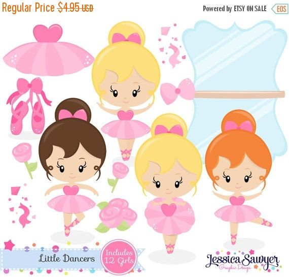 80% OFF INSTANT DOWNLOAD ballerina clipart by JessicaSawyerDesign