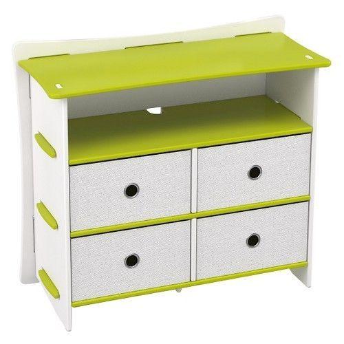 """Frog 36"""" Kids Dresser Lime Green/White - Legare #Legareacute"""
