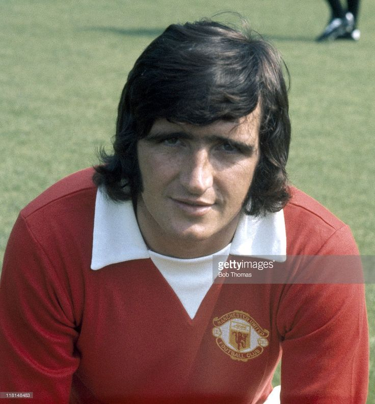 Ian StoreyMoore of Manchester United at Old Trafford circa 1972