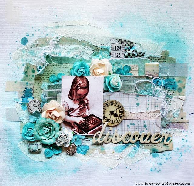 single layout lots of layers: Layout Inspiration, Angel Categori, Tattered Angel, Beautiful Colours, Crafty Inspiration, Layout Lots, Angels, Angel Products, Single Layout