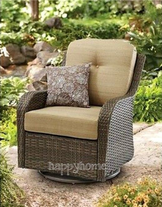 Wicker Rocking Chair Outdoor Summer Swivel Glider Patio