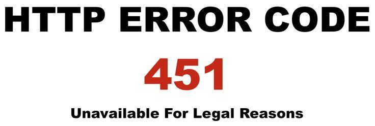 새로운 HTTP 코드 451은 무슨 뜻일까?
