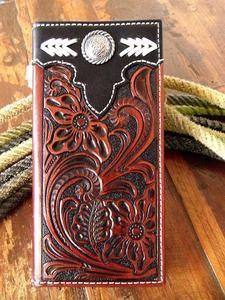 western leather wallets for men | Western Cowboy Leather Men's Wallet w Concho | eBay
