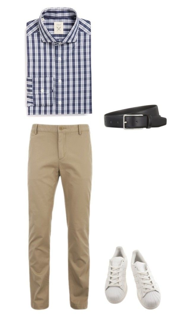 """""""Preppy"""" by justian-edwin-darmawan on Polyvore featuring Strong Suit, Lacoste, adidas, Sandro, men's fashion and menswear"""