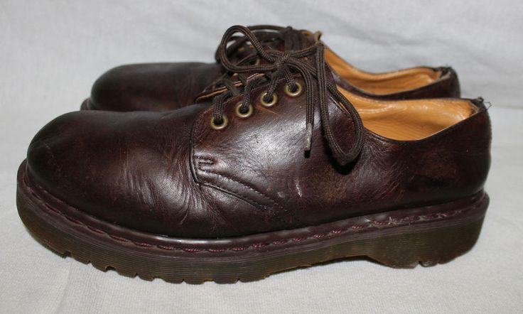 Doc Dr Martens UK 9 US 10 Original Low 80s Brown Shoes Oxfords Vtg MIE England  #DrMartens #Oxfords #DocMartens #Originals #low #80s #brown #shoes #vintage #mie #england
