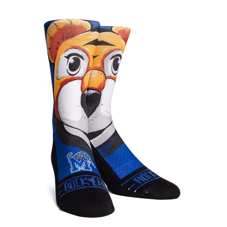 Rock 'Em Elite, Memphis Tigers - Mascot, Licensed Crew Socks