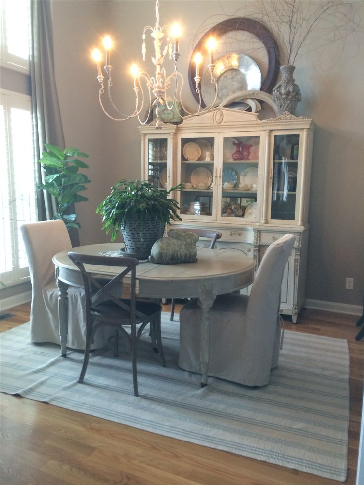 "Dining room, Sherwin Williams ""balanced beige"" on walls,"