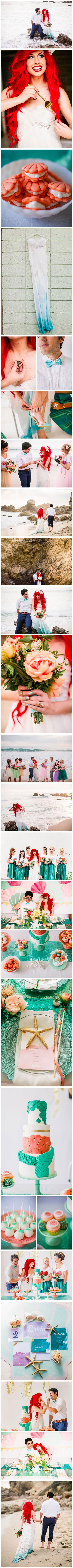 As children, many of us dreamed of having a perfect Disney princess wedding, or even of being a cute little mermaid like Ariel. So when the Your Cloud Parade online wedding marketplace teamed up with designer Traci Hines (Ariel) and model Leo Camacho (Prince Eric) to create the perfect replica of our childhood fantasy, we were all more than impressed.