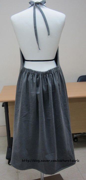 (에이프런) 치마로 입을수 있는 에이프런 : 네이버 블로그