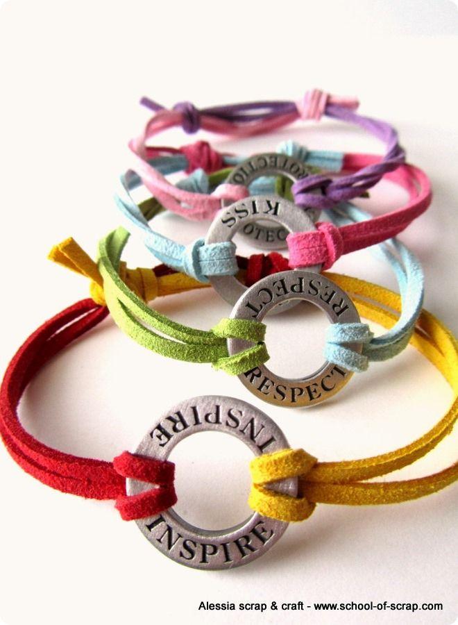 Rispetto, baci, protezione e inspirazione nei braccialetti. Alessia Scrap