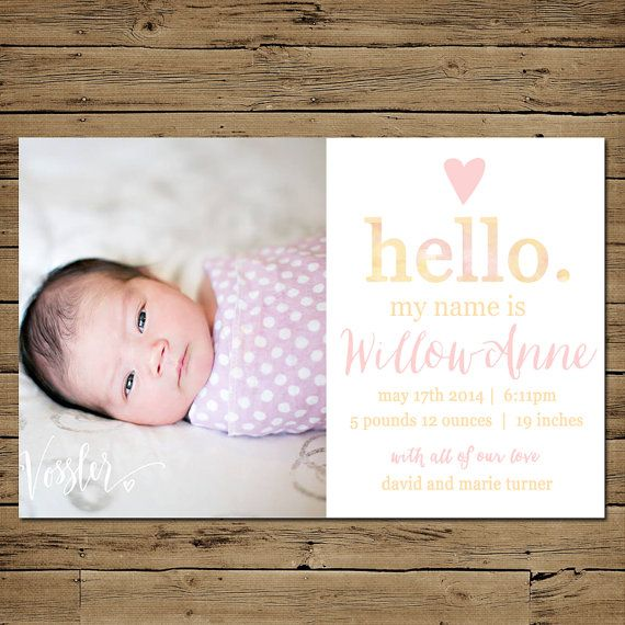 Hey, I found this really awesome Etsy listing at https://www.etsy.com/listing/189032815/baby-girl-birth-announcement-printable