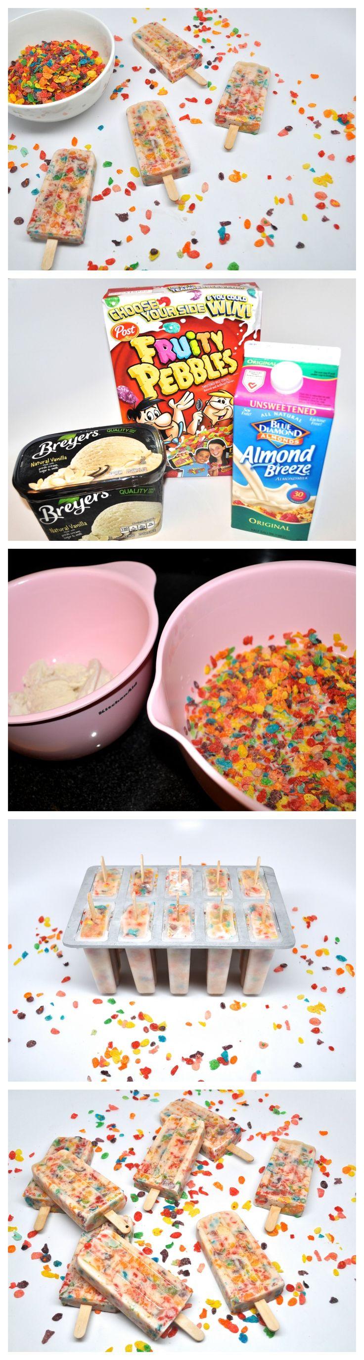 Cereal & Milk Breakfast Popsicles : Stoney Clover Lane Birthday breakfast for my Summer babies.