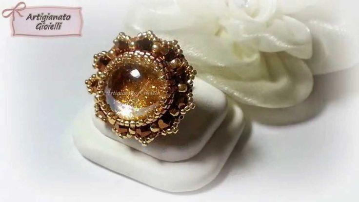 Anelli con gemme di vetro - Bead rings https://www.youtube.com/channel/UCHmgIdzyXn4CJTGR-BlFE2A?sub_confirmation=1