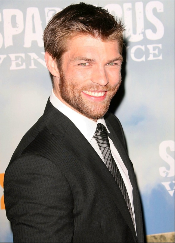 Liam McIntyre (Spartacus). He has one of the most adorable smiles