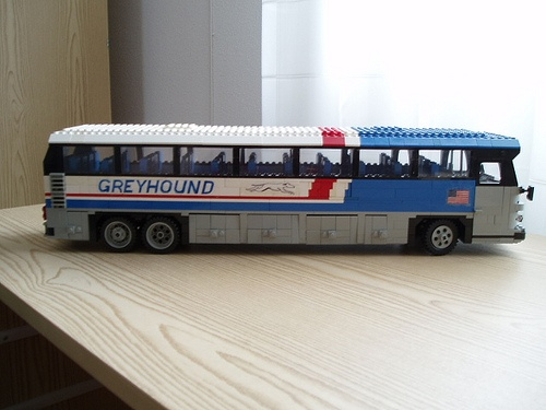 LEGO Greyhound bus  by Mad physicist, via Flickr