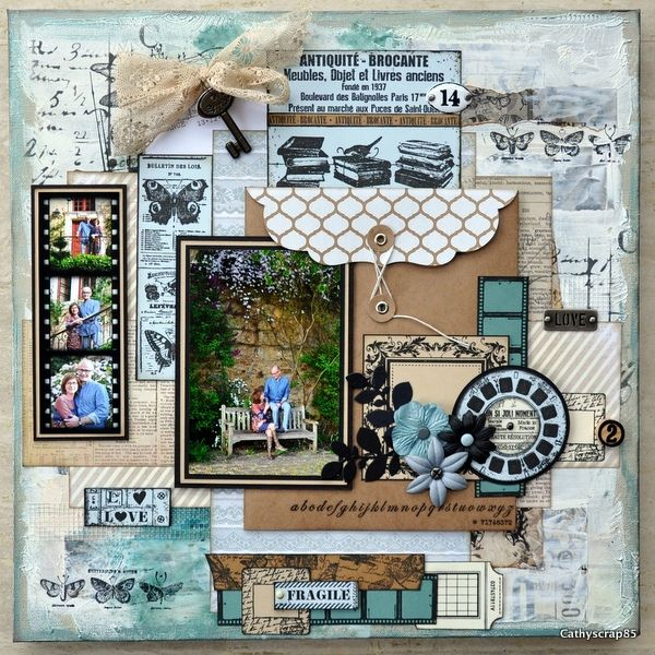 National Scrapbooking Day : création de Cathyscrap85 - Tuto Home déco sur toile Canvas 40x40: http://espacecreatifvc.canalblog.com/archives/2015/05/03/31966928.html