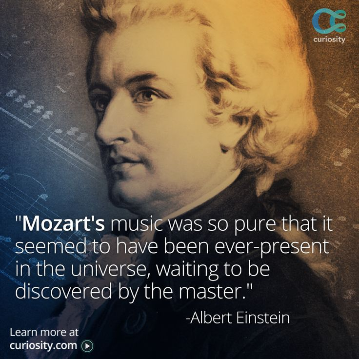 """Wolfgang Amadeus Mozart created more than 600 compositions before his death at the young age of 35. Is """"The Mozart Effect"""" real? Does listening to Mozart's music make you smarter? FIND OUT: https://curiosity.com/video/can-classical-music-make-you-smarter-glenn-wilson-fora/?utm_source=pinterest&utm_medium=social&utm_campaign=20150127pinmozart"""