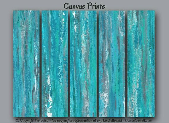 Large abstract wall art for gray, teal, and turquoise home or office decor by Denise Cunniff - ArtFromDenise.com. View more info at https://www.etsy.com/listing/203112341/large-wall-art-abstract-gray-teal