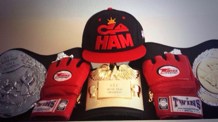 Pro MMA Fighter HAMbassador Liam Etebar's Champ Belts & Go HAM Snapback