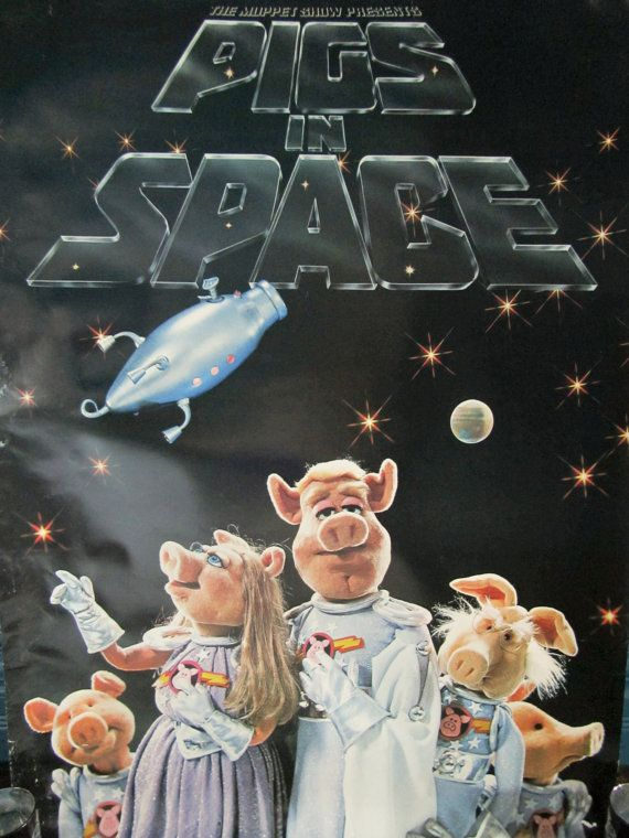 Vintage PIGS IN SPACE 197677 Muppets Poster by TabulousSundries, $75.00