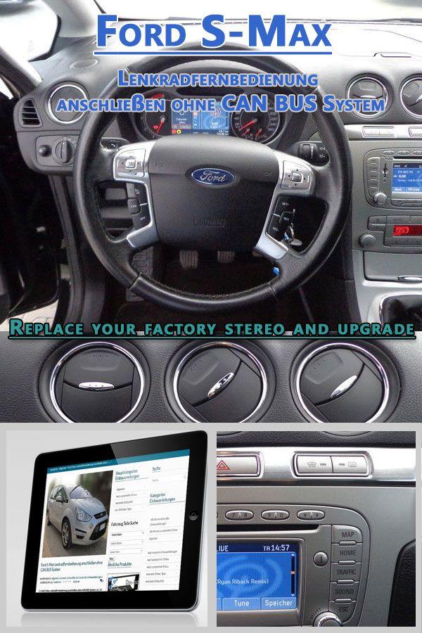 Ford-S-Max-Lenkradfernbedienung-anschließen Ford-S-Max-Lenkradfernbedienung-anschließen, Ohne einen Lenkrad Adapter ist die Bedienung über das Multifunktionslenkrad für das neue Autoradio nicht möglich.