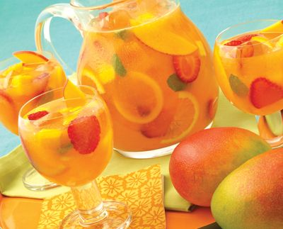 I LOVE mangos so a Mango Strawberry Sangria is right up my alley!