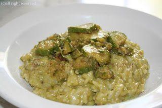 La zucca capricciosa: Risotto con crema di zucchine e gorgonzola
