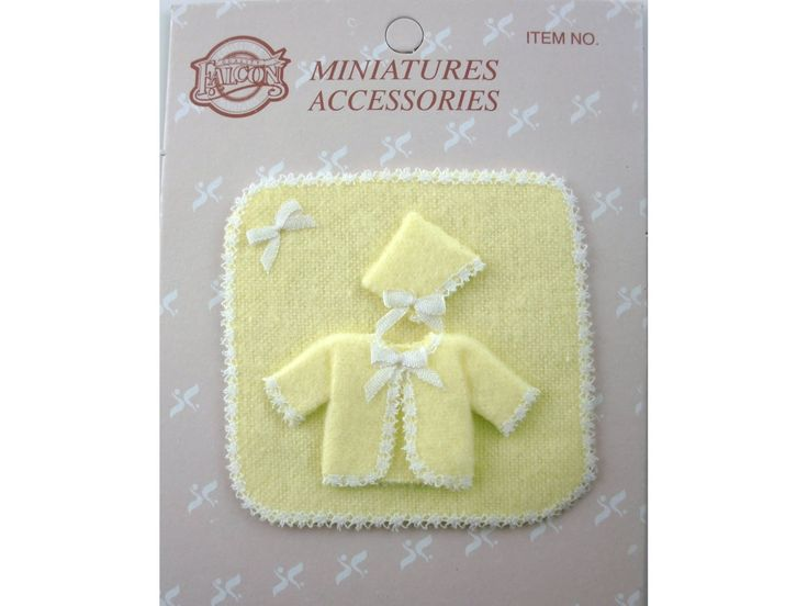 1:12 Falcon Nursery Baby Layette Gift Set Lemon | Falcon Miniatures | Melody Jane Doll Houses