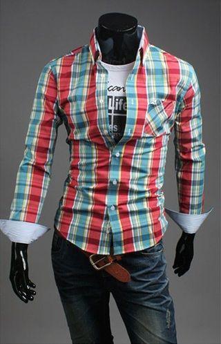 Camisa Casual Slim Fit a Cuadros - Estilo Leñador - en 7 Colores