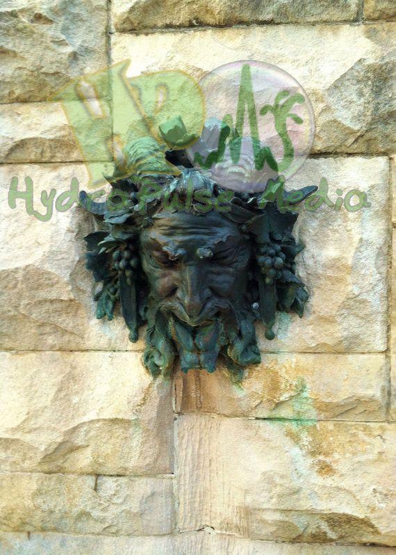 Green Man Bronze U0026 Stone Wall Fountain Garden By TheGlockyCoggler