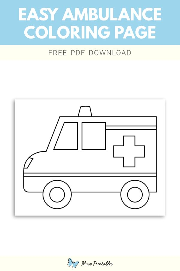 Free Easy Ambulance Coloring Page Coloring Pages Color Ambulance