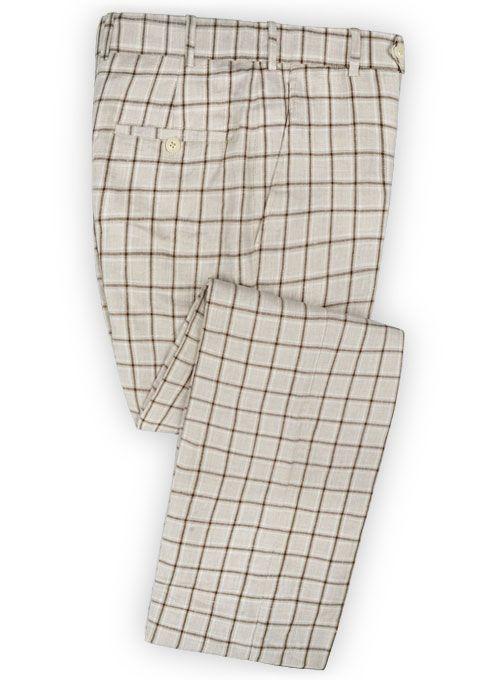 Italian Master Beige Linen Pants