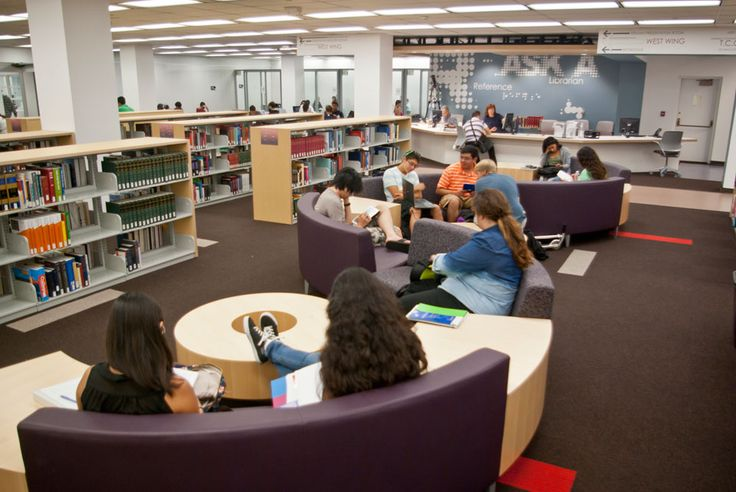 The flexible work stations in the new Learning Commons create the ability for study groups of any size to get together in the space. Photo by Kristine Keller.