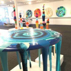 Moon Tables  I - V  2016 : cast resin, multiple dimensions