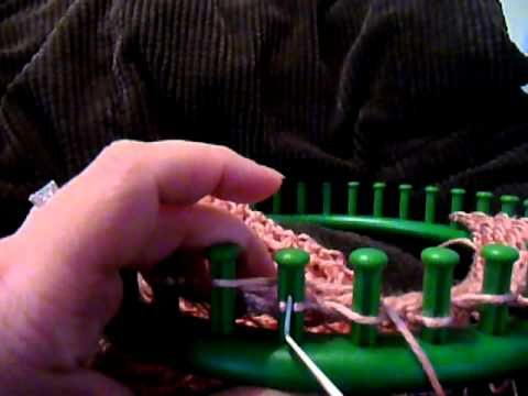 Loom Knit - Technique video for K2tog & YO worked counter clockwise by SweetheartCozy