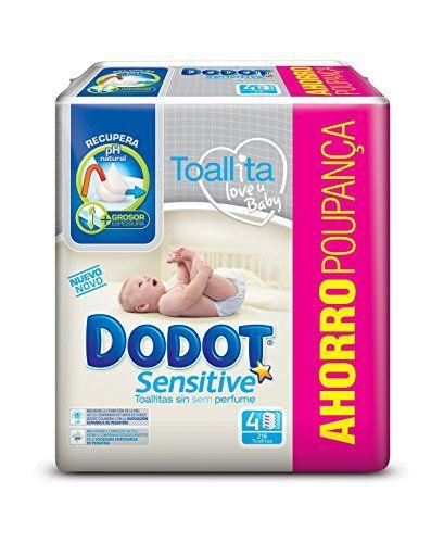 Dodot Sensitive Toallitas Para Bebe 4 Paquetes De 54 Unidades