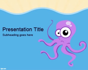 Free Octopus PowerPoint Template is a free Octopus PowerPoint slide design with a nice Octopus cartoon illustration that you can download and use to decorate your presentations