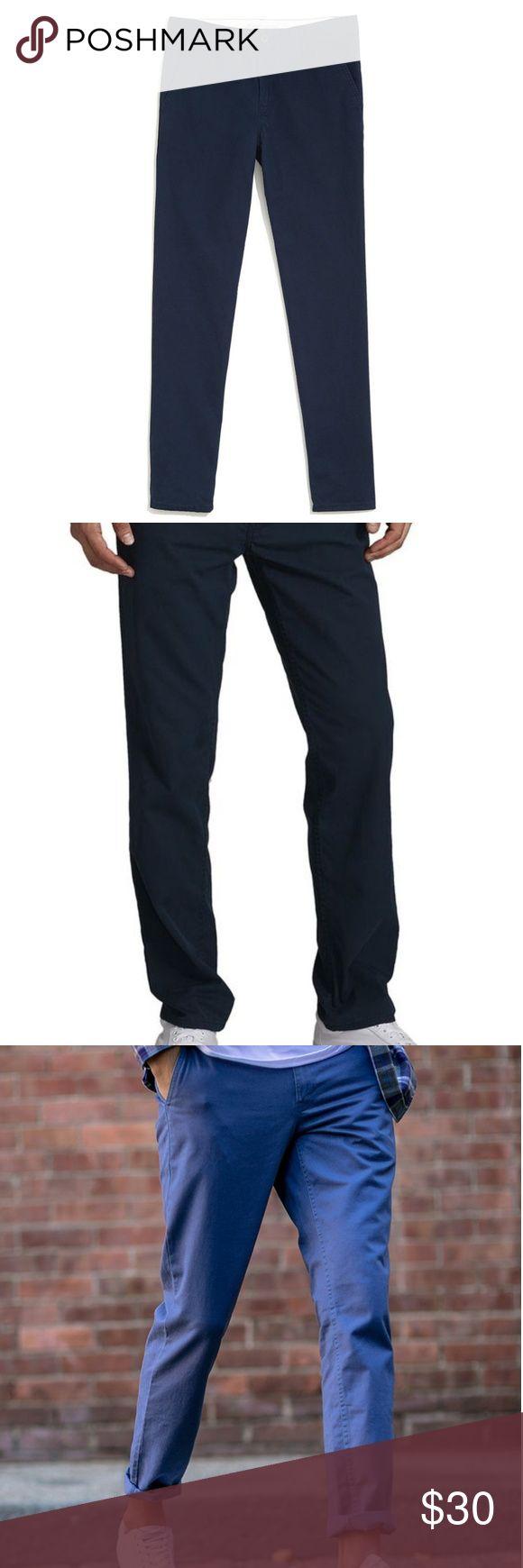 Men's JackThreads brand slim chino pants Navy blue slim chino pants Jack Threads Pants Chinos & Khakis