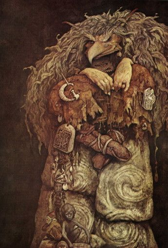Love the detail on the clothes.  Brian Froud; Troll Witch III.: