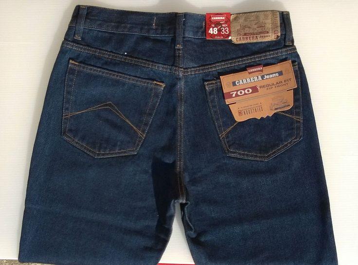 Jeans Carrera Uomo Art.700/1021 Zip Frontale 5 Tasche Invernale Tg.46/60