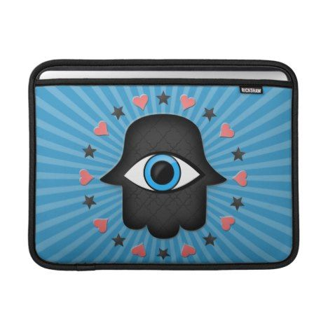 hamsa khamsa Eye in hand of the goddess Sleeve For MacBook Air #laptop #computer #ipad #mac #sleeve #bags #modern #colorful