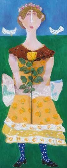 Kislány Ünneplőben by Hungarian Margit Anna, born Margit Sichermann, 1913~1991