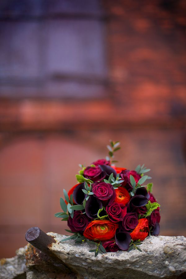 Fall orange and plum - - Love these colors!
