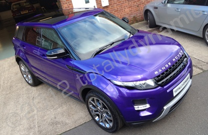 range rover evoque vinyl wrapped in printed colour matched car wrap by totally dynamic. Black Bedroom Furniture Sets. Home Design Ideas