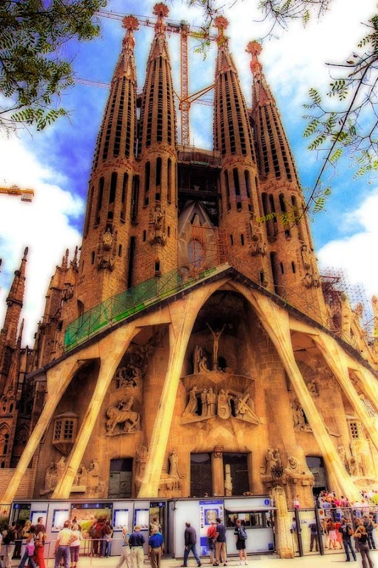 Roman Catholic church in Barcelona Spain