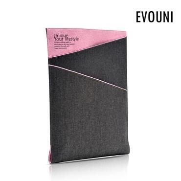 Evouni Twilled Denim Case Pouch for New iPad / iPad 2 - Pink