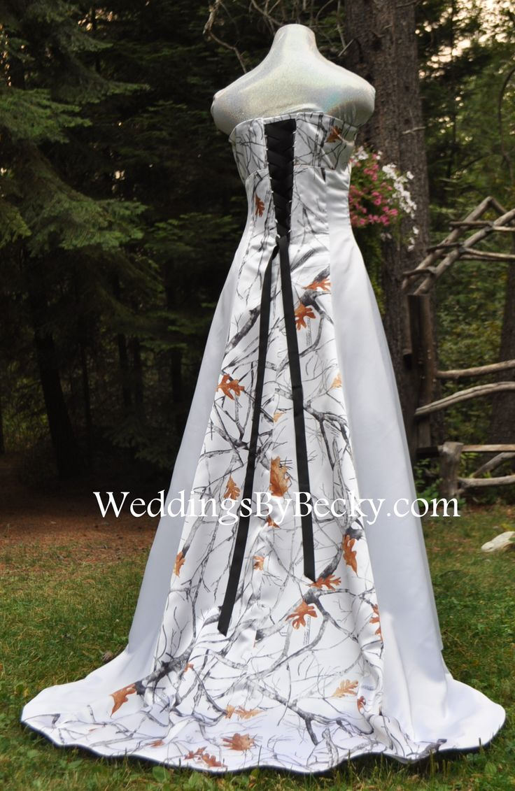 67 best camo wedding dresses and more images on pinterest for Snow camo wedding dresses