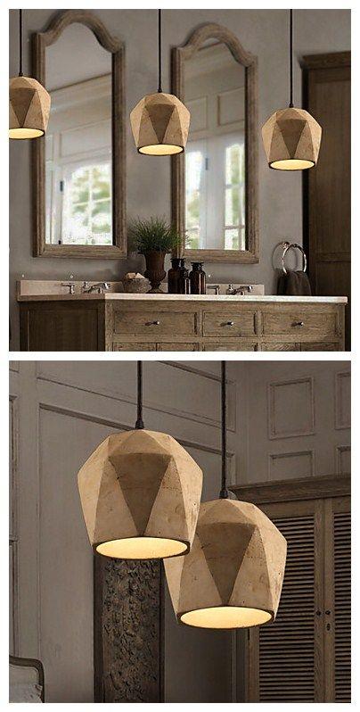 The nordic minimalist retro pendant light cement vintage for 1950s minimalist house