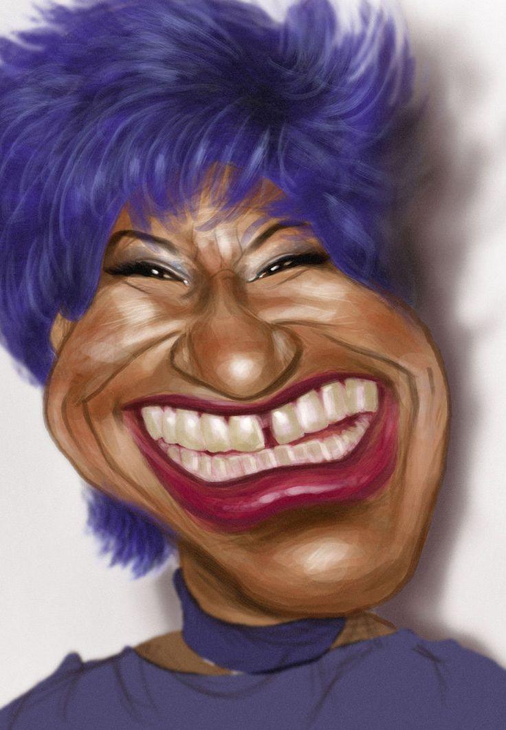 Caricatura de Celia Cruz