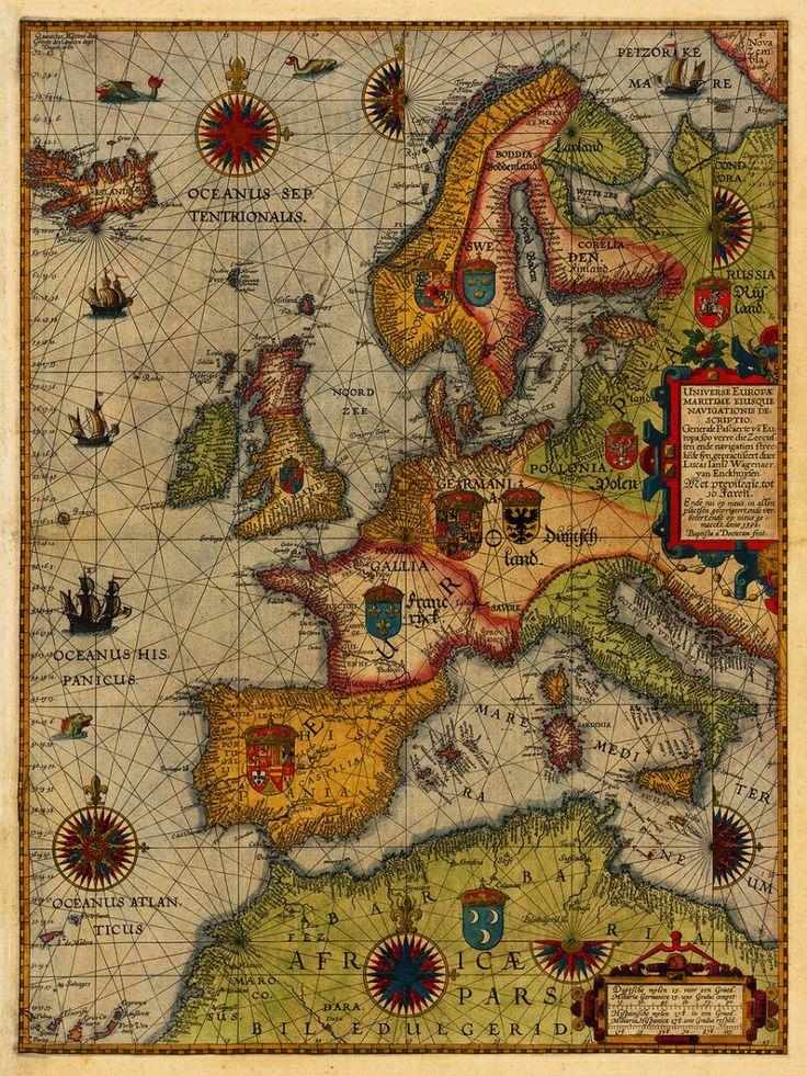 Lucas Janszoon Waghenaer Sea Chart of Europe